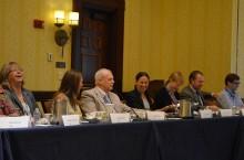 Mary Kelley, Kim Johnson, Sarah Basile, Dr. George Ford, Dr. Vanessa Burton, Emily Durand & Dr. Don Nixdorf