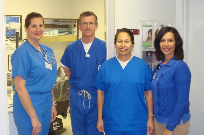 Dr. Lease and staff